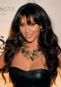Kim Kardashian Long Layers and Waves-One of The 8 Most Popular HAIRcuts of 2012
