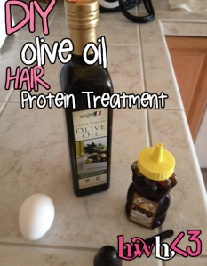 DIY Olive Oil Protein Treatment
