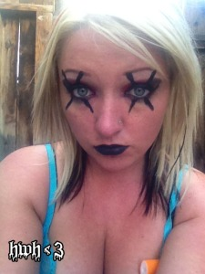 X's on your Eyes Halloween Makeup